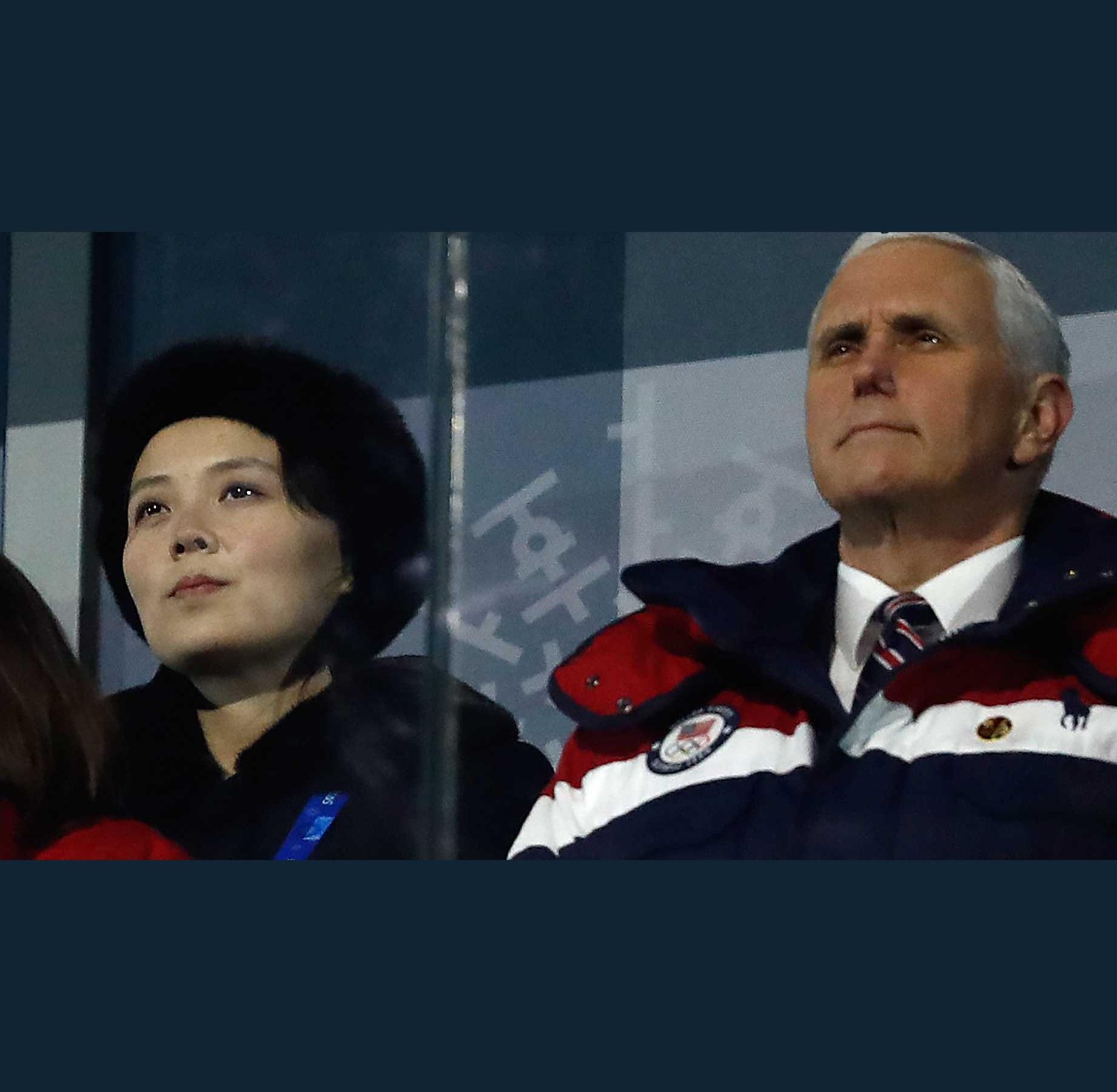 VP Pence with Kim Yo Jong, Kim Jong Un's Sister Meme Generator - Imgflip