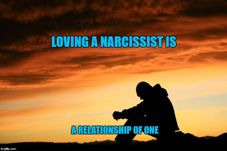 Relationship of One | LOVING A NARCISSIST IS A RELATIONSHIP OF ONE | image tagged in relationship meme 1,relationship,love,narcissist,alone,one | made w/ Imgflip meme maker