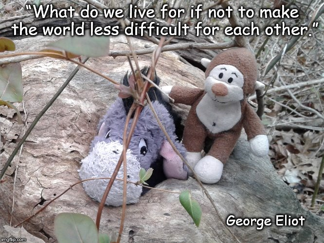 "Get Me Out! | ""What do we live for if not to make the world less difficult for each other."" George Eliot 