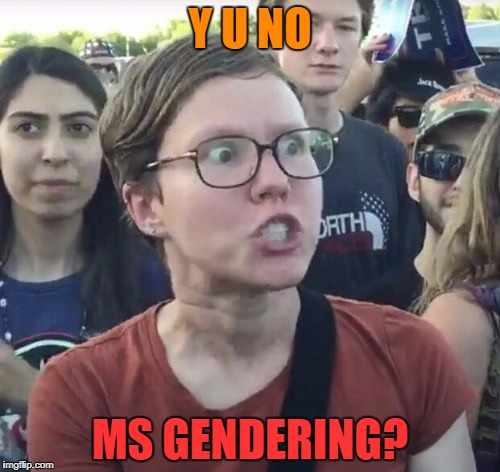 Y U NO MS GENDERING? | made w/ Imgflip meme maker
