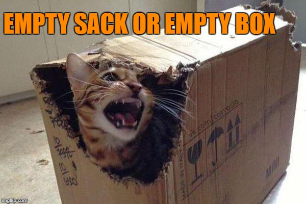 EMPTY SACK OR EMPTY BOX | made w/ Imgflip meme maker