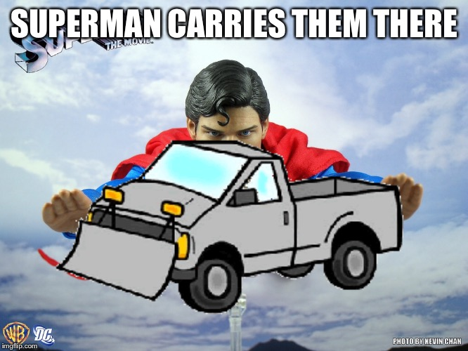 SUPERMAN CARRIES THEM THERE | made w/ Imgflip meme maker