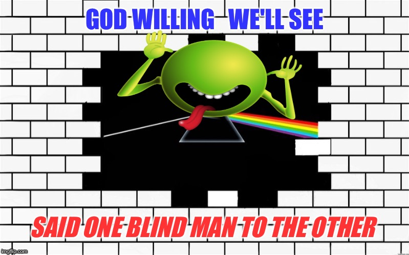 GOD WILLING   WE'LL SEE SAID ONE BLIND MAN TO THE OTHER | made w/ Imgflip meme maker