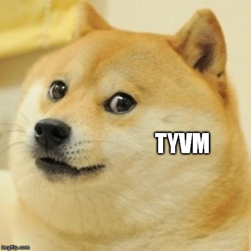 Doge Meme | TYVM | image tagged in memes,doge | made w/ Imgflip meme maker