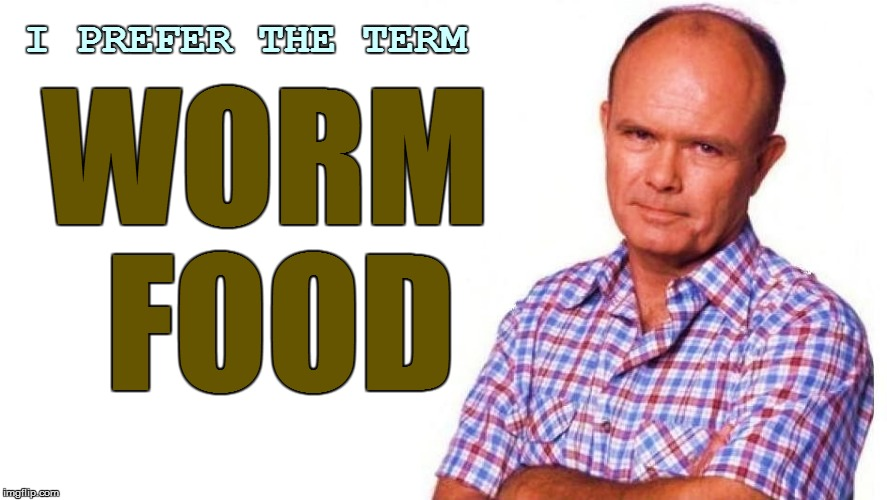I PREFER THE TERM WORM FOOD | made w/ Imgflip meme maker