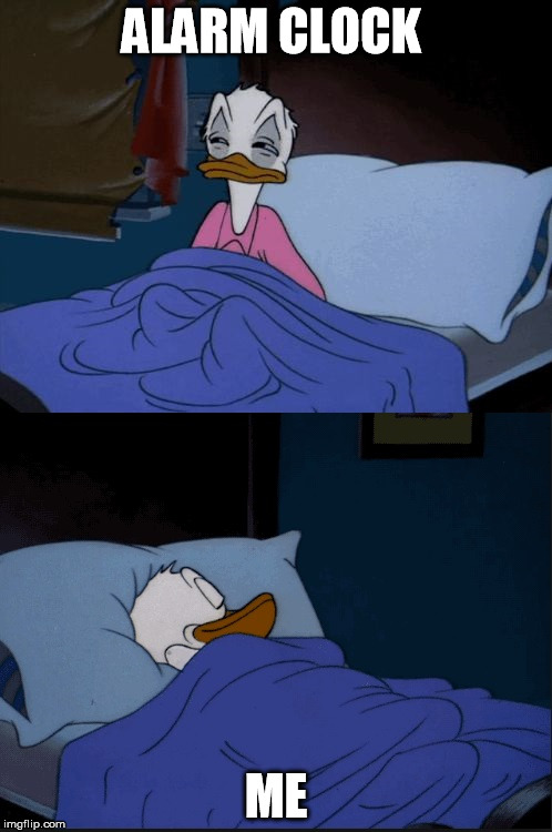 Donald Duck | ALARM CLOCK ME | image tagged in donald duck | made w/ Imgflip meme maker
