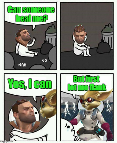 Paladin pip | Can someone heal me? Yes, I can But first let me flank | image tagged in paladins,memes,paladinsmeme,meme,funny memes,pip | made w/ Imgflip meme maker