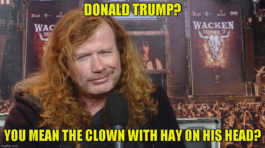 DONALD TRUMP? YOU MEAN THE CLOWN WITH HAY ON HIS HEAD? | made w/ Imgflip meme maker