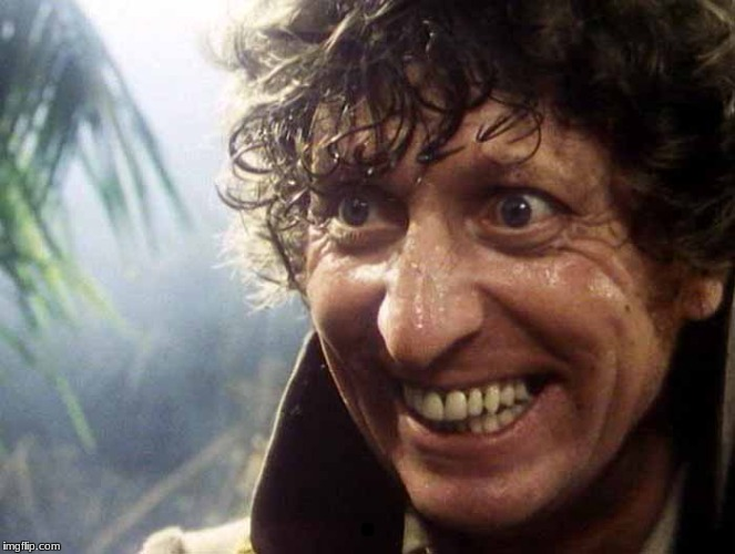 Excited 4th Doctor | . | image tagged in excited 4th doctor | made w/ Imgflip meme maker