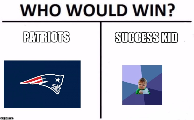 Patriots Vs Success Kid | PATRIOTS SUCCESS KID | image tagged in memes,who would win,funny,success kid,baby,patriots | made w/ Imgflip meme maker