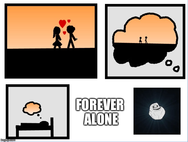 FOREVER ALONE | image tagged in forever alone,romance | made w/ Imgflip meme maker