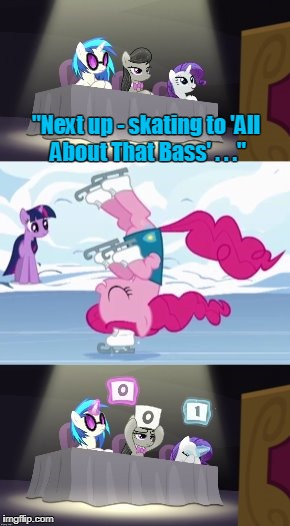"It was the music selection; definitely the music... | ""Next up - skating to 'All About That Bass' . . ."" 
