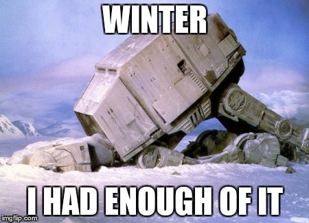 Winter | WINTER I HAD ENOUGH OF IT | image tagged in winter,winter is here,enough is enough | made w/ Imgflip meme maker