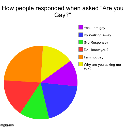 "Look at it for a bit | How people responded when asked ""Are you Gay?"" 