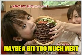 MAYBE A BIT TOO MUCH MEAT | made w/ Imgflip meme maker