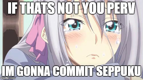 IF THATS NOT YOU PERV IM GONNA COMMIT SEPPUKU | made w/ Imgflip meme maker