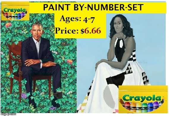 Obama Moochelle WH painting scum no class losers | image tagged in obama,the mooch | made w/ Imgflip meme maker