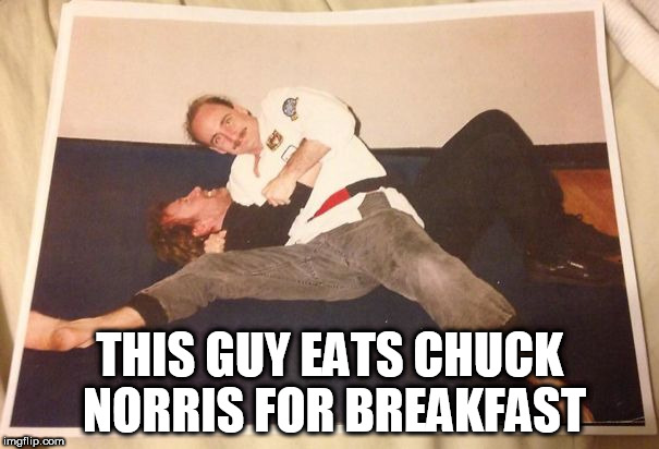 Can't remember who TF he is though :( | THIS GUY EATS CHUCK NORRIS FOR BREAKFAST | image tagged in memes,chuck norris,defeat,the more you know,wow,fighting | made w/ Imgflip meme maker