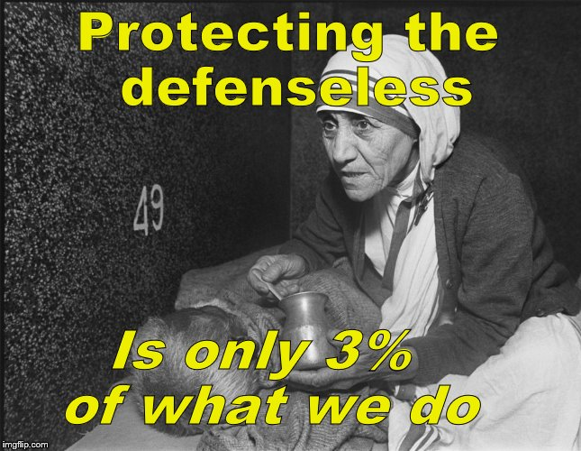 Protecting the defenseless Is only 3% of what we do | image tagged in planned parenthood | made w/ Imgflip meme maker