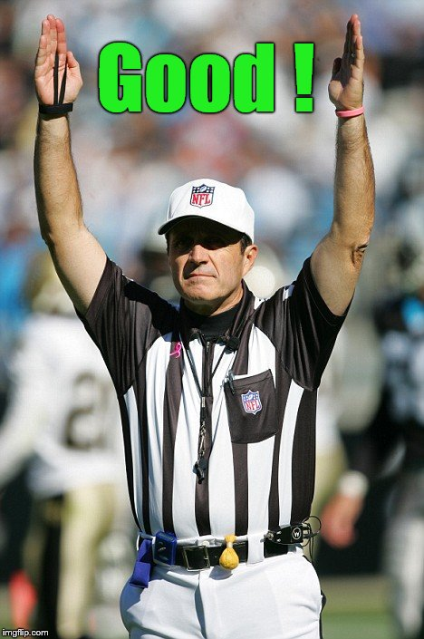 TOUCHDOWN! | Good ! | image tagged in touchdown | made w/ Imgflip meme maker