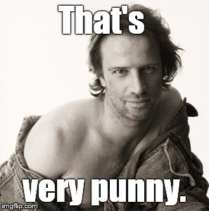Lambert sexy | That's very punny. | image tagged in lambert sexy | made w/ Imgflip meme maker