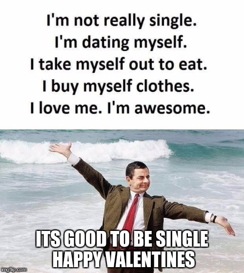 Single People | ITS GOOD TO BE SINGLE  HAPPY VALENTINES | image tagged in single life | made w/ Imgflip meme maker