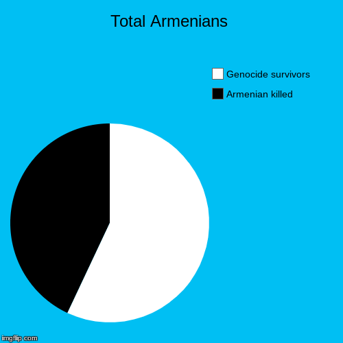 Total Armenians | Armenian killed, Genocide survivors | image tagged in funny,pie charts | made w/ Imgflip pie chart maker