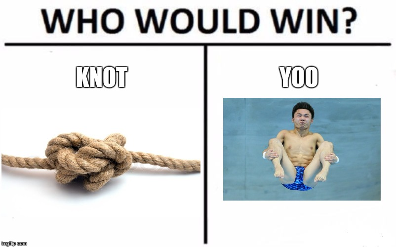 Who Would Win? Meme | KNOT YOO | image tagged in memes,who would win | made w/ Imgflip meme maker