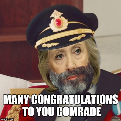 MANY CONGRATULATIONS TO YOU COMRADE | made w/ Imgflip meme maker