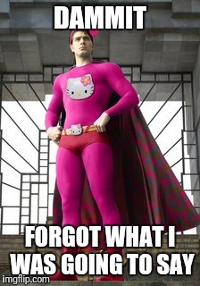 Umm | DAMMIT FORGOT WHAT I WAS GOING TO SAY | image tagged in forgot,never forget,hello kitty,hero,superhero,crazy | made w/ Imgflip meme maker