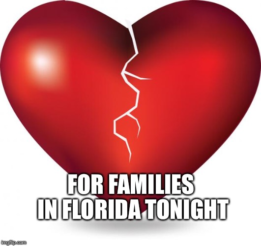 broken heart  | FOR FAMILIES IN FLORIDA TONIGHT | image tagged in broken heart | made w/ Imgflip meme maker