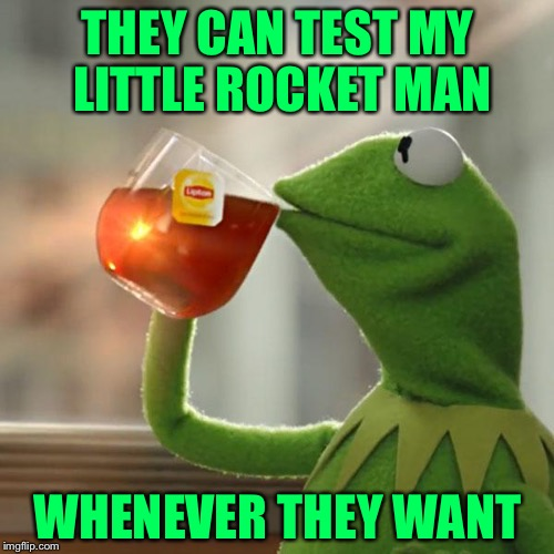 But Thats None Of My Business Meme | THEY CAN TEST MY LITTLE ROCKET MAN WHENEVER THEY WANT | image tagged in memes,but thats none of my business,kermit the frog | made w/ Imgflip meme maker