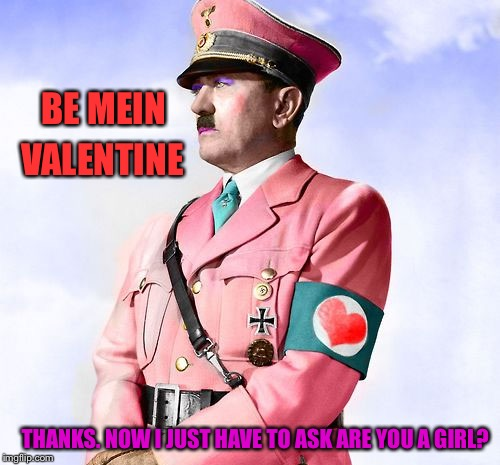BE MEIN VALENTINE THANKS. NOW I JUST HAVE TO ASK ARE YOU A GIRL? | made w/ Imgflip meme maker