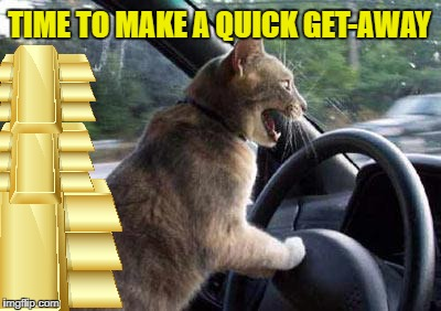 TIME TO MAKE A QUICK GET-AWAY | made w/ Imgflip meme maker