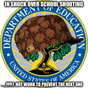 Politicians are useless | IN SHOCK OVER SCHOOL SHOOTING WILL NOT WORK TO PREVENT THE NEXT ONE | image tagged in government,education,school shooting,politicians | made w/ Imgflip meme maker