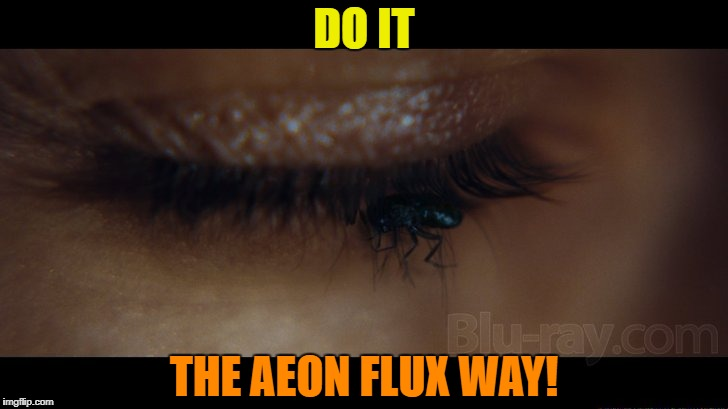 DO IT THE AEON FLUX WAY! | made w/ Imgflip meme maker