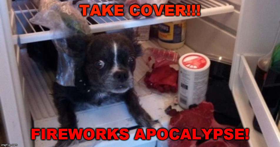 TAKE COVER!!! FIREWORKS APOCALYPSE! | made w/ Imgflip meme maker