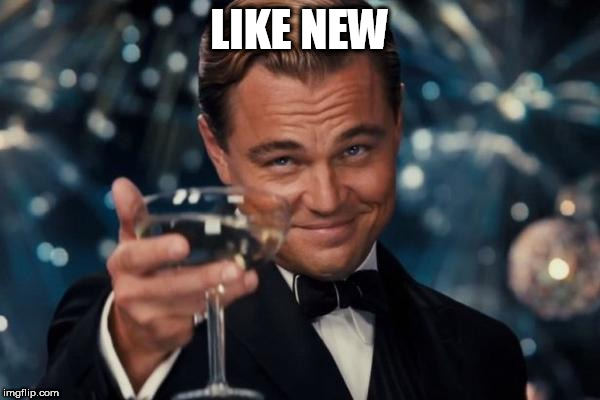 Leonardo Dicaprio Cheers Meme | LIKE NEW | image tagged in memes,leonardo dicaprio cheers | made w/ Imgflip meme maker