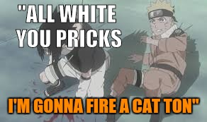 """ALL WHITE YOU PRICKS I'M GONNA FIRE A CAT TON"" 