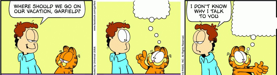 Garfield comic vacation Blank Template - Imgflip
