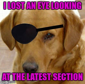 I LOST AN EYE LOOKING AT THE LATEST SECTION | made w/ Imgflip meme maker