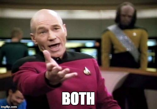 Picard Wtf Meme | BOTH | image tagged in memes,picard wtf | made w/ Imgflip meme maker