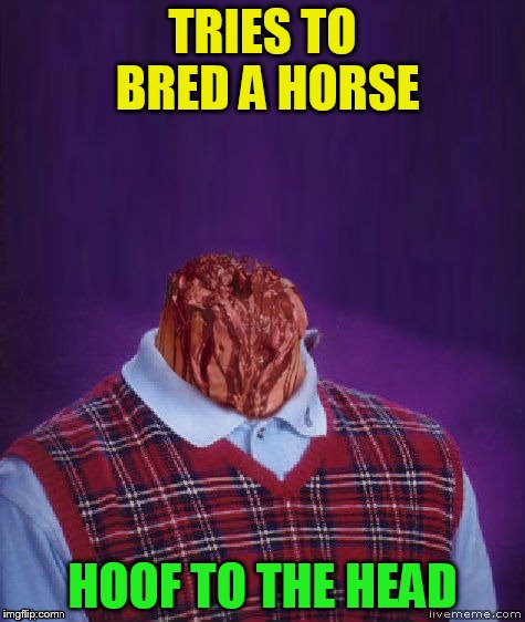 TRIES TO BRED A HORSE HOOF TO THE HEAD | made w/ Imgflip meme maker