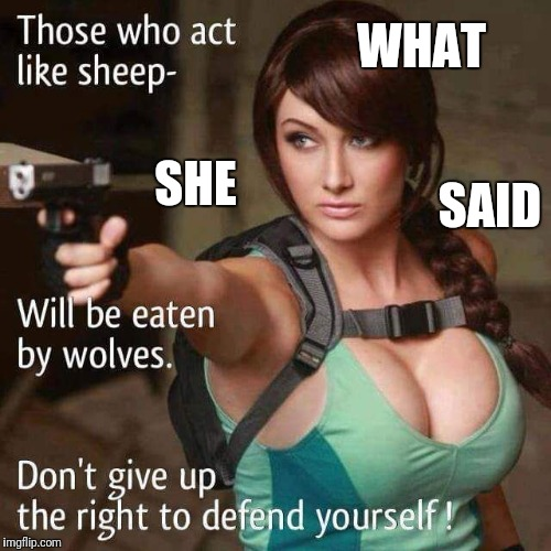 Sheeple | WHAT SAID SHE | image tagged in sheeple | made w/ Imgflip meme maker
