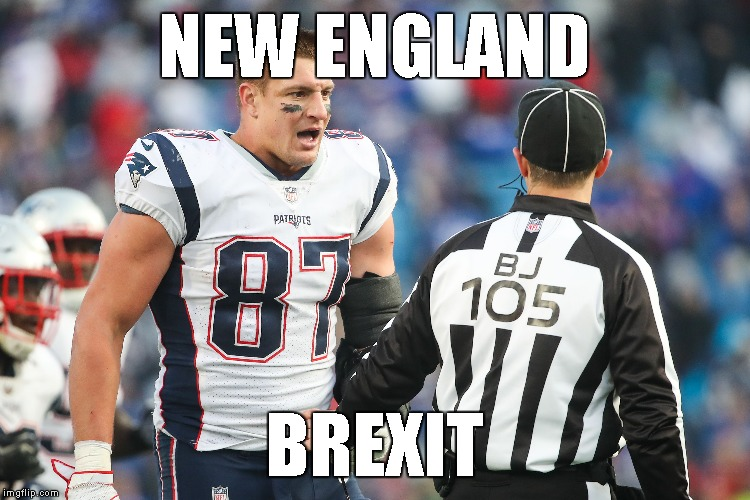 New England Patriots perform a BREXIT at the Super Bowl | NEW ENGLAND BREXIT | image tagged in memes,brexit | made w/ Imgflip meme maker