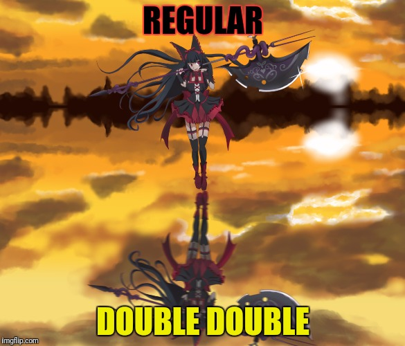 REGULAR DOUBLE DOUBLE | made w/ Imgflip meme maker