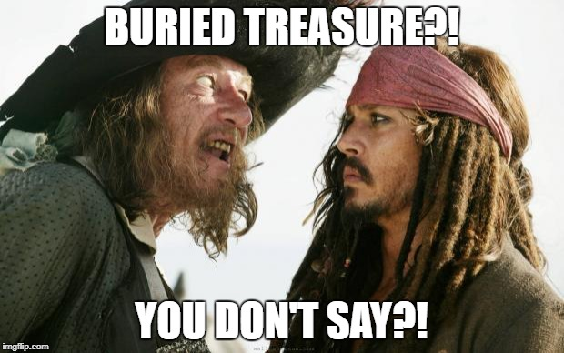 Pirates | BURIED TREASURE?! YOU DON'T SAY?! | image tagged in pirates | made w/ Imgflip meme maker