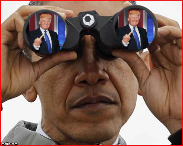 Obama Spying | image tagged in obama,spying,spygate,current events,donald trump approves,politics lol | made w/ Imgflip meme maker