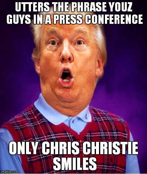 UTTERS THE PHRASE YOUZ GUYS IN A PRESS CONFERENCE ONLY CHRIS CHRISTIE SMILES | made w/ Imgflip meme maker