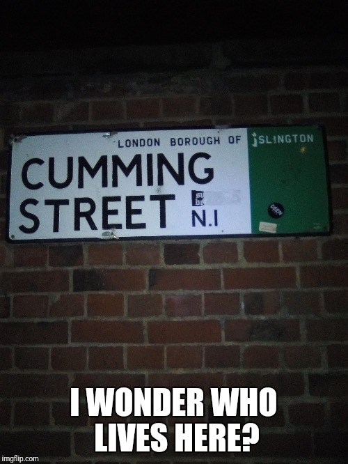 A very unique street name! | I WONDER WHO LIVES HERE? | image tagged in memes,funny,funny street signs,lol | made w/ Imgflip meme maker